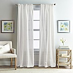 Rose Garden Solid 63-Inch Rod Pocket Window Curtain Panel in White