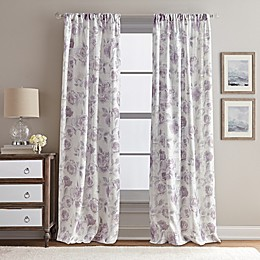 Rose Garden Rod Pocket Window Curtain Panel