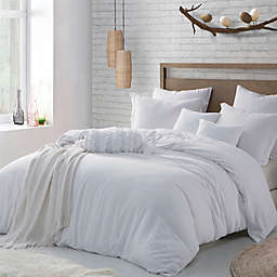 Swift Home Crinkle Pre-washed Microfiber Duvet Cover Set
