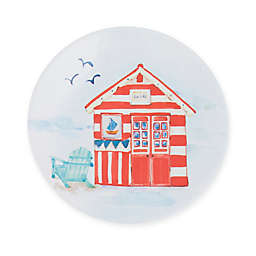Beach House Melamine Salad Plate in Red/White