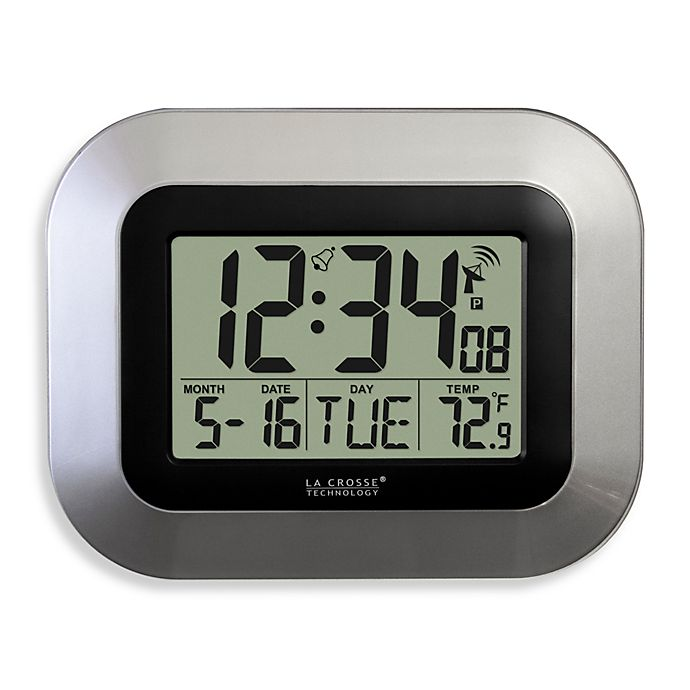 Alternate image 1 for La Crosse Technology Atomic Clock with Temperature