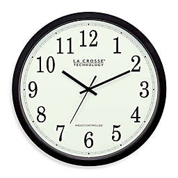 La Crosse Technology 14-Inch Atomic Wall Clock with Black Frame