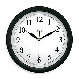 La Crosse Technology 10-Inch Black Plastic Analog Wall Clock