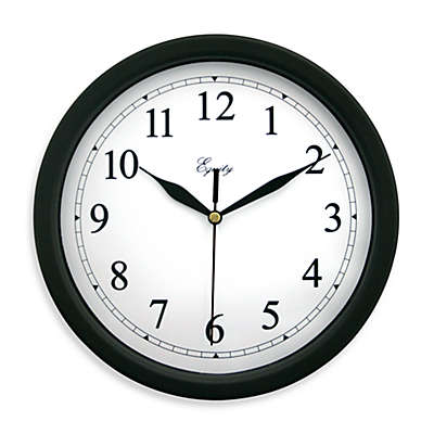 La Crosse Technology 10-Inch Black Plastic Analog Wall Clock