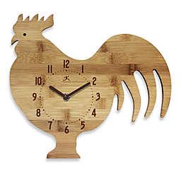 Infinity Instruments Roost & Serve Bamboo Walk Clock