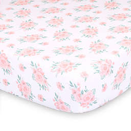 The Peanutshell™ Farmhouse Floral Fitted Crib Sheet