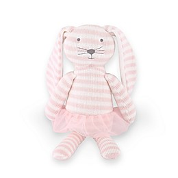 The Peanut Shell™ Farmhouse Knit Bunny Plush Toy in Pink