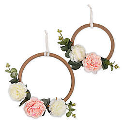 The Peanut Shell™ Farmhouse 17.5-Inch x 10.25-Inch Floral Rings Wall Décor