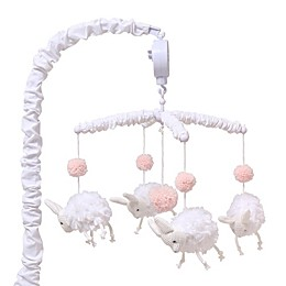 The Peanut Shell™ Farmhouse Bunny Musical Mobile in Pink