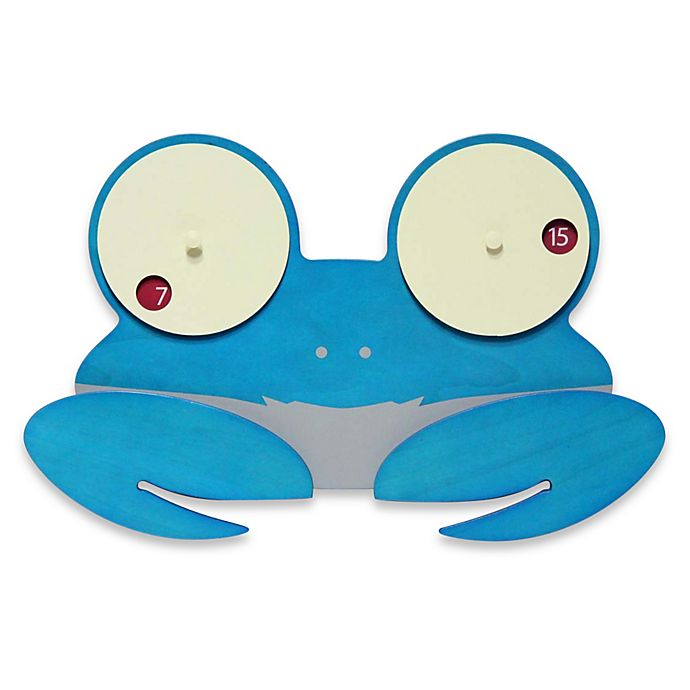 Alternate image 1 for Infinity Instruments Shelly Crab Eyes Wall Clock