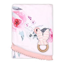 The Peanut Shell™ Farmhouse Flowers Baby Blanket in White/Pink