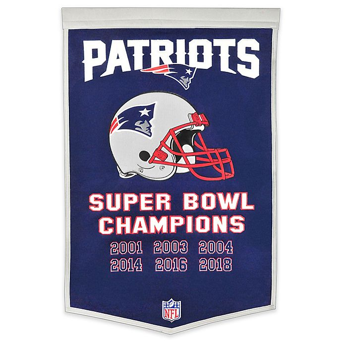 Alternate image 1 for NFL New England Patriots Super Bowl LIII Champions Banner in Navy