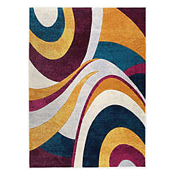 Home Dynamix Tribeca Swirls Area Rug in Purple/Multi