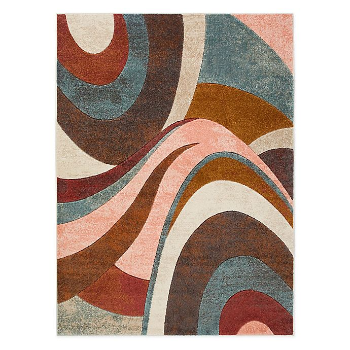 Alternate image 1 for Home Dynamix Tribeca Swirl Area Rug in Brown/Multi