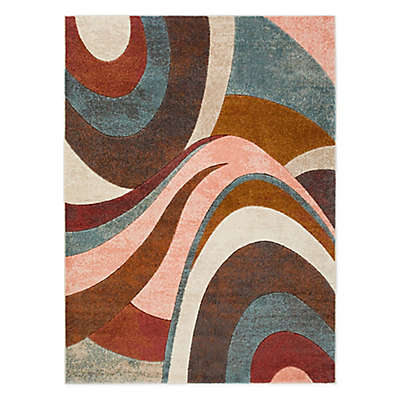 Home Dynamix Tribeca Swirl Area Rug in Brown/Multi