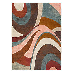Home Dynamix Tribeca Swirl Rug in Brown/Multi