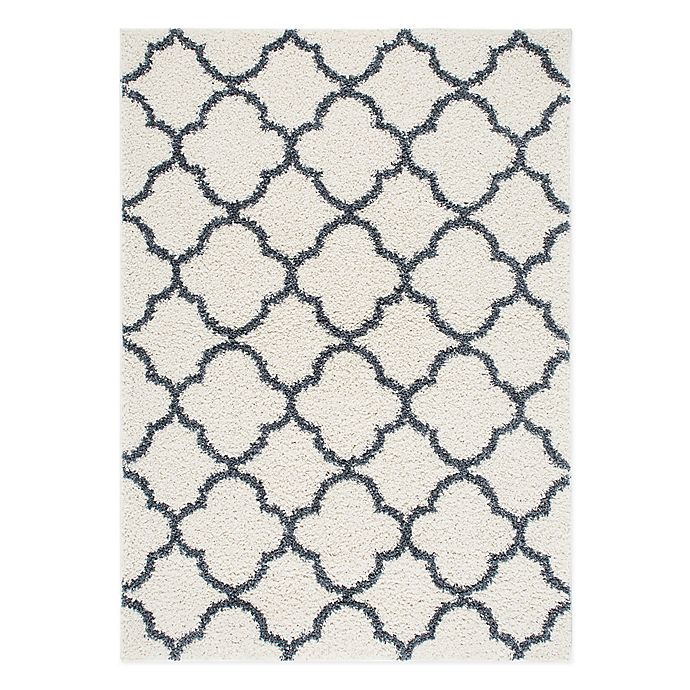 Alternate image 1 for Home Dynamix Synergy Trellis 9-Foot 2-Inch x 12-Foot Area Rug in Blue