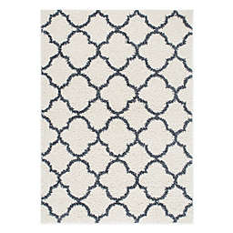 Home Dynamix Synergy Trellis 9-Foot 2-Inch x 12-Foot Area Rug in Blue