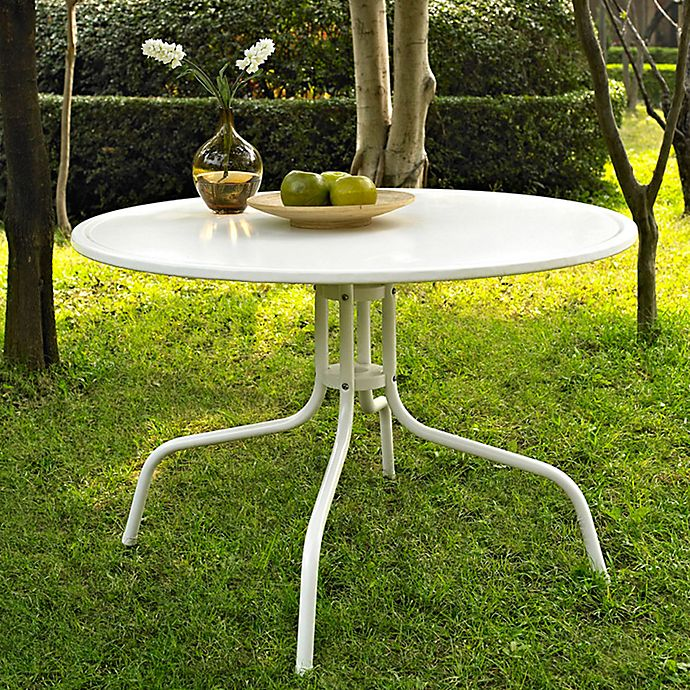 Alternate image 1 for Griffith Metal 39-Inch Dining Table in White