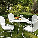 39  Dining Table in White Finish with White Finish Chairs