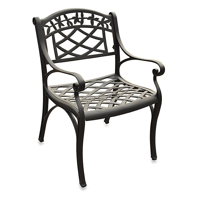 Alternate image 1 for Crosley Sedona Outdoor Arm Chairs in Black (Set of 2)