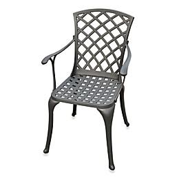 Crosley Sedona High-Back Arm Chairs in Black (Set of 2)