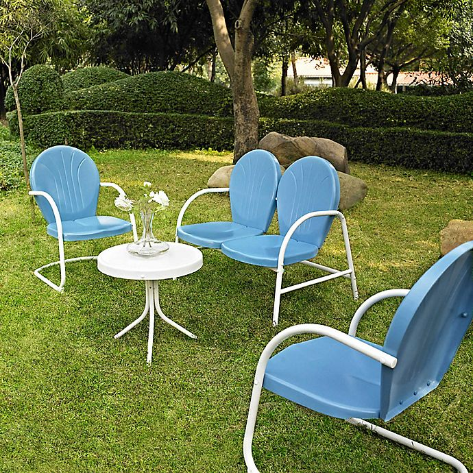 Alternate image 1 for Crosley Griffith 4-Piece Metal Outdoor Seating Set