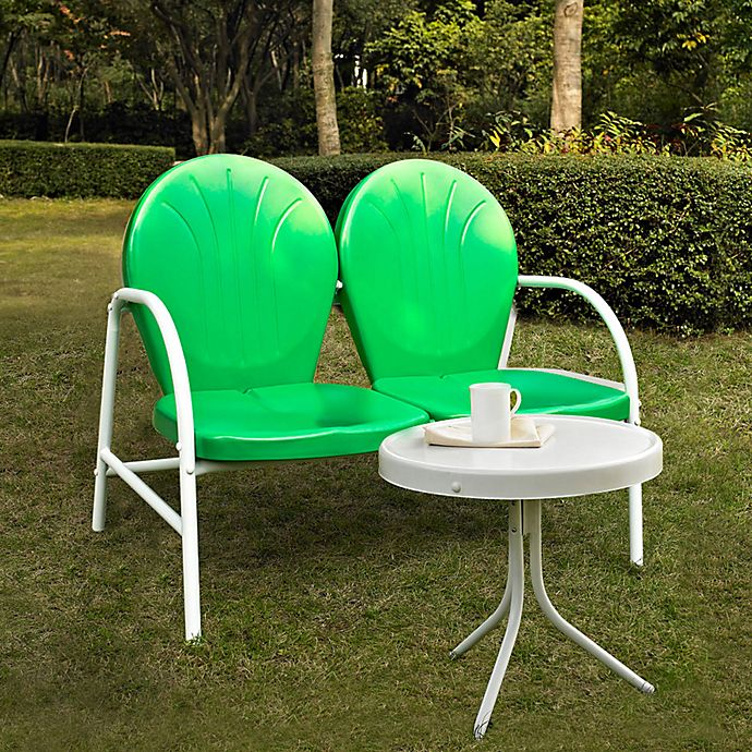Crosley Griffith 2 Piece Metal Outdoor Seating Set Bed