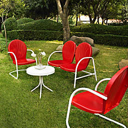 Crosley Griffith 4-Piece Metal Outdoor Seating Set