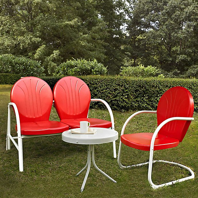 Alternate image 1 for Crosley Griffith 3-Piece Metal Outdoor Seating Set