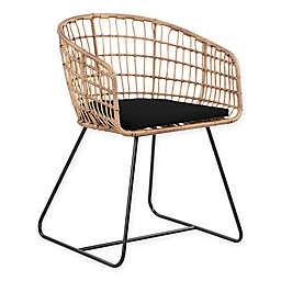Graham Rattan Lounge Chair in Black