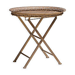 Baxton Studio Sofia Accent Table in Antique Gold