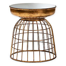 Baxton Studio Harriet Accent Table in Antique Gold
