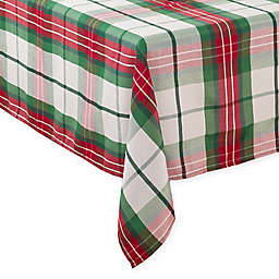 Saro Lifestyle Vernor Plaid Tablecloth in Green