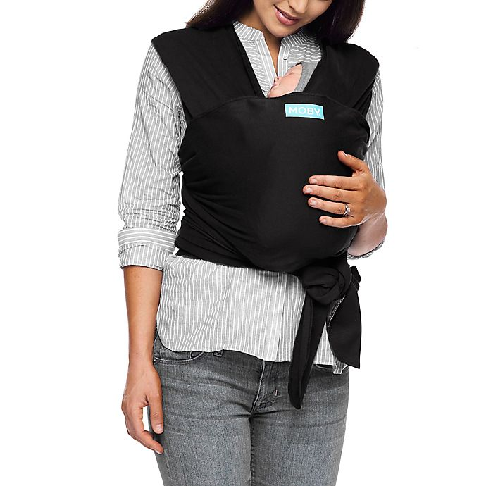 Alternate image 1 for Moby® Wrap Classic Baby Carrier in Black