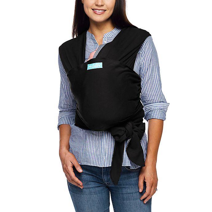 Alternate image 1 for Moby® Wrap EvolutionBaby Carrier in Black