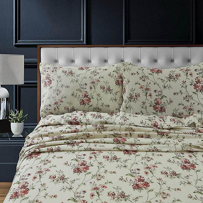 Alternate image 1 for Tribeca Living Floral Flannel Standard Pillowcases (Set of 2)