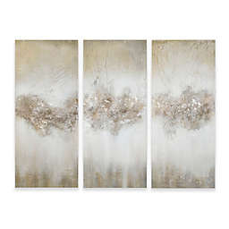 Madison Park 3-Piece Luminous Hand Painted Wall Art Set in Taupe