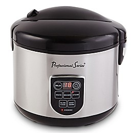 Professional Series® 20-Cup Digital LED Display Rice Cooker in Stainless Steel