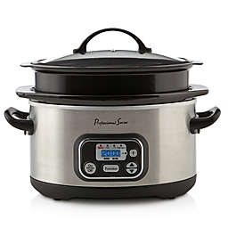 Professional Series® 4-6 Quart Expandable Digital Slow Cooker in Stainless Steel