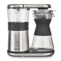 Brim 8-Cup Pour-Over Coffee Maker in Silver/Black