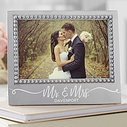 Mariposa® Personalized Mr. & Mrs. Wedding Statement 4-Inch x 6-Inch Frame