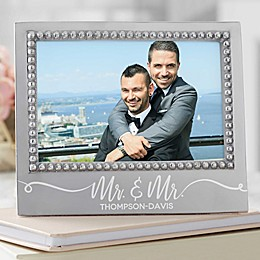 Mariposa® Personalized Mr. & Mr. Wedding Statement 4-Inch x 6-Inch Frame
