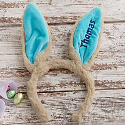 Embroidered Easter Bunny Ear Headband