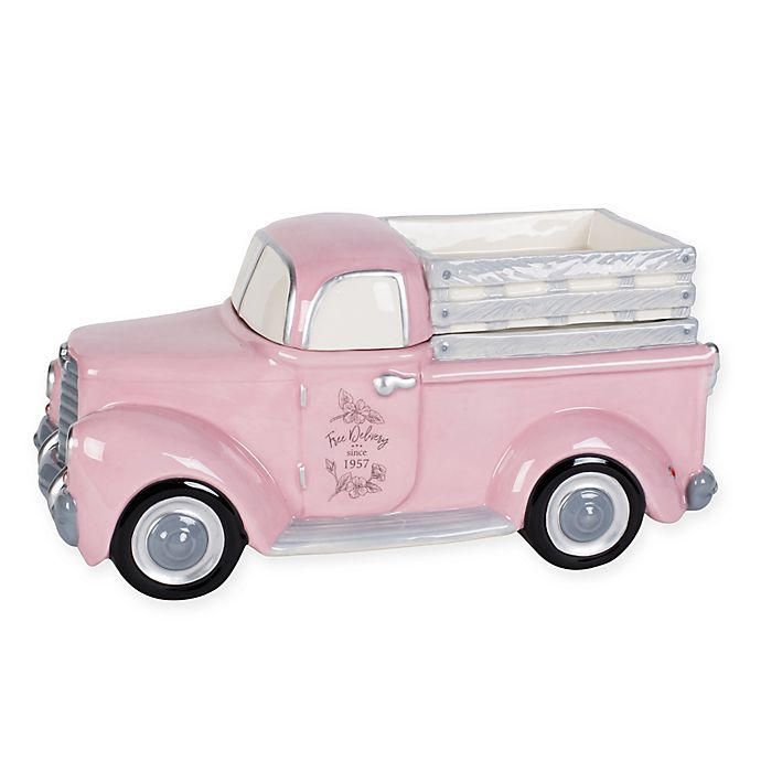 Alternate image 1 for Fitz and Floyd® Butterfly Fields Branch & Blossom Pink Truck Cookie Jar