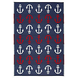 Windward Indoor/Outdoor Patio Mat in Navy