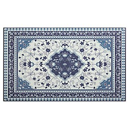 Home Dynamix Calm Step 1'9 x 2'10 Kitchen Mat in Blue