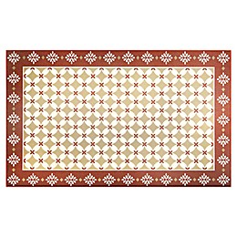 Home Dynamix Calm Step 1'9 x 2'10 Kitchen Mat in Red