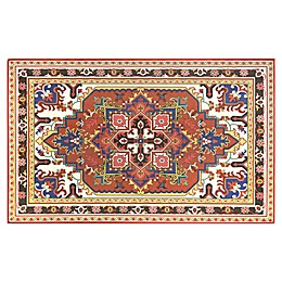 Home Dynamix Calm Step 1'9 x 2'10 Kitchen Mat in Red/Multi