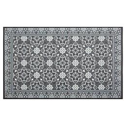 Home Dynamix Calm Step 1'9 x 2'10 Kitchen Mat in Grey/Black